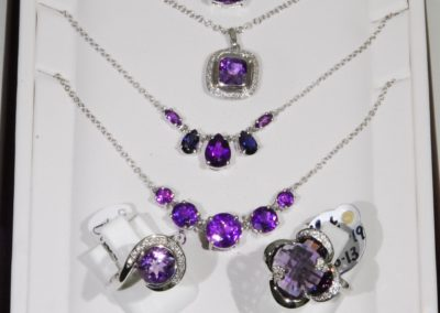 Amethyst rings and pendants