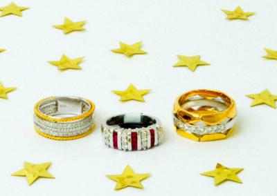 Diamond set rings