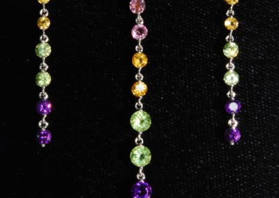 Mixed stone necklet and earrings