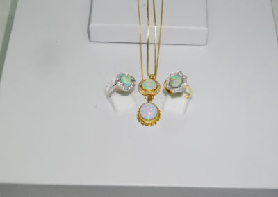Opal rings and pendants